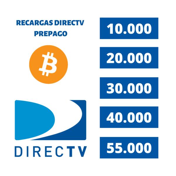 recargas Directv prepago con bitcoin